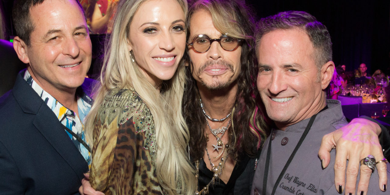 Celebrity Chef Wayne Elias Delights at Janie's Fund Grammy Party with Steven Tyler