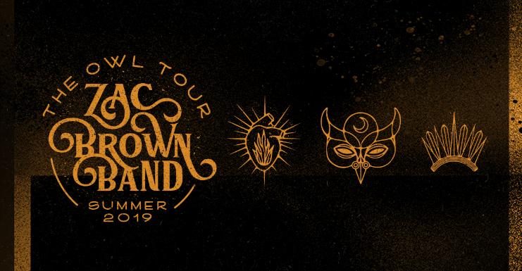 Zac Brown Band Annc ' The Owl Tour' Summer 2019