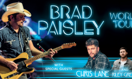 BRAD PAISLEY ANNOUNCES 2019 WORLD TOUR