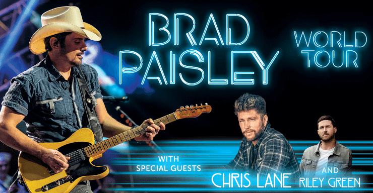 BRAD PAISLEY ANNOUNCES 2019 WORLD TOUR