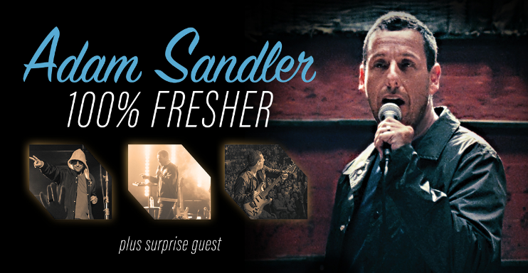 Adam Sandler reveals Summer Dates for His 100% Fresher Tour