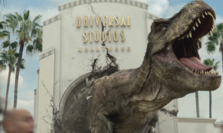 "It Just Got Real: Jurassic World's Iconic Tyrannosaurus rex and Mosasaurus Invade Universal Studios Hollywood for the New Mega Attraction, ""Jurassic World—The Ride"""