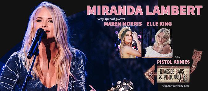Ready for a Sexy Twang?! Miranda Lambert embarks on 'Roadside Bars & Pink Guitars Tour 2019'