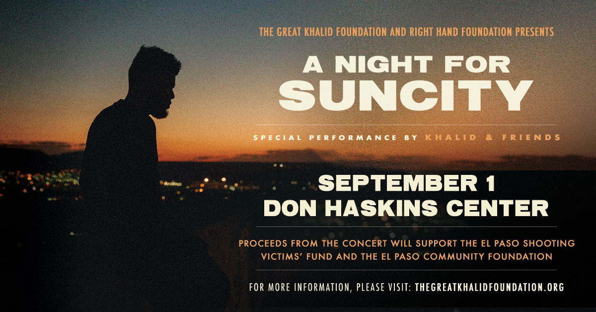 A Night for SunCity Benefit Concert with Khalid Sept 1