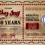 Santa Monica's Iconic Chez Jay Celebrates 60 Years on Nov 16 with Throwback Extravaganza