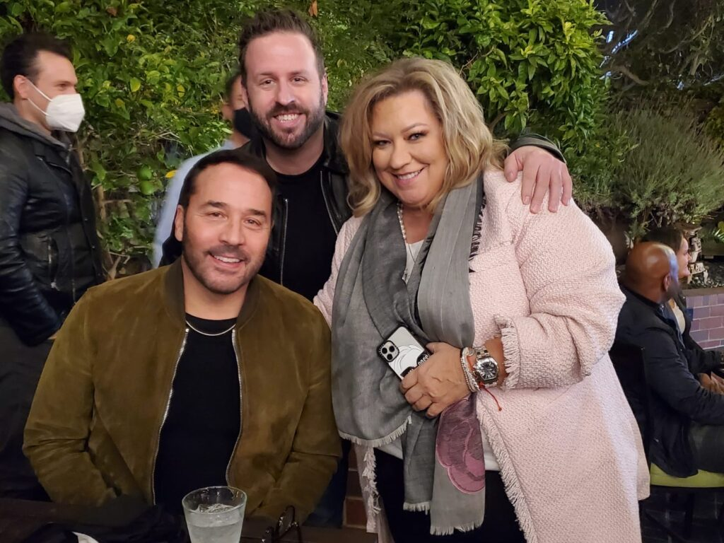 Jeremy Piven with Adam Kling and Cindy Wolfe of Blackout L.A