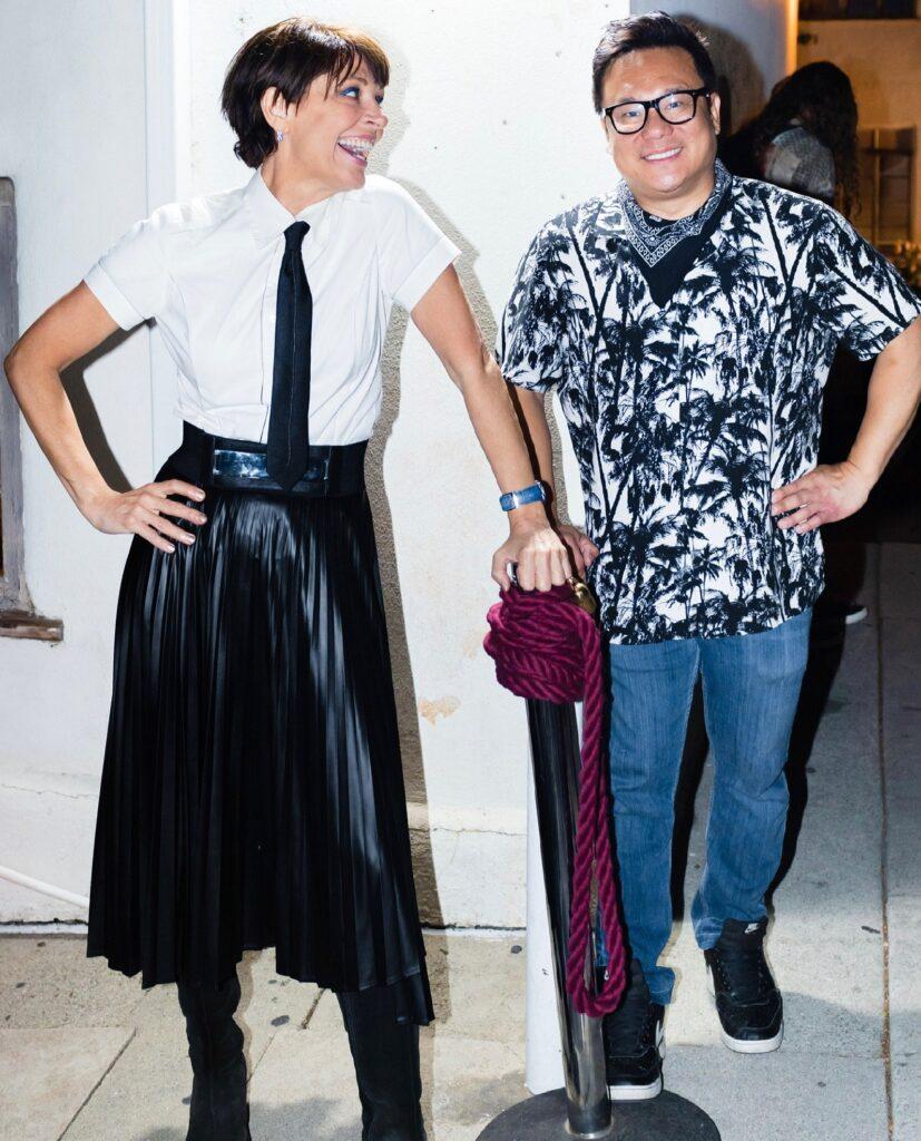 Christine Peake with Jimmy Shin