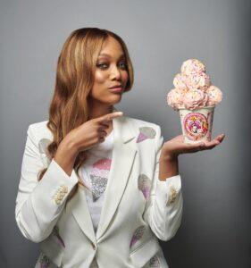 Tyra Banks for Smize Ice Cream custard